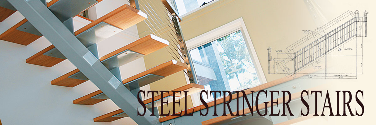steel stringer stairs by Ideal Stairs